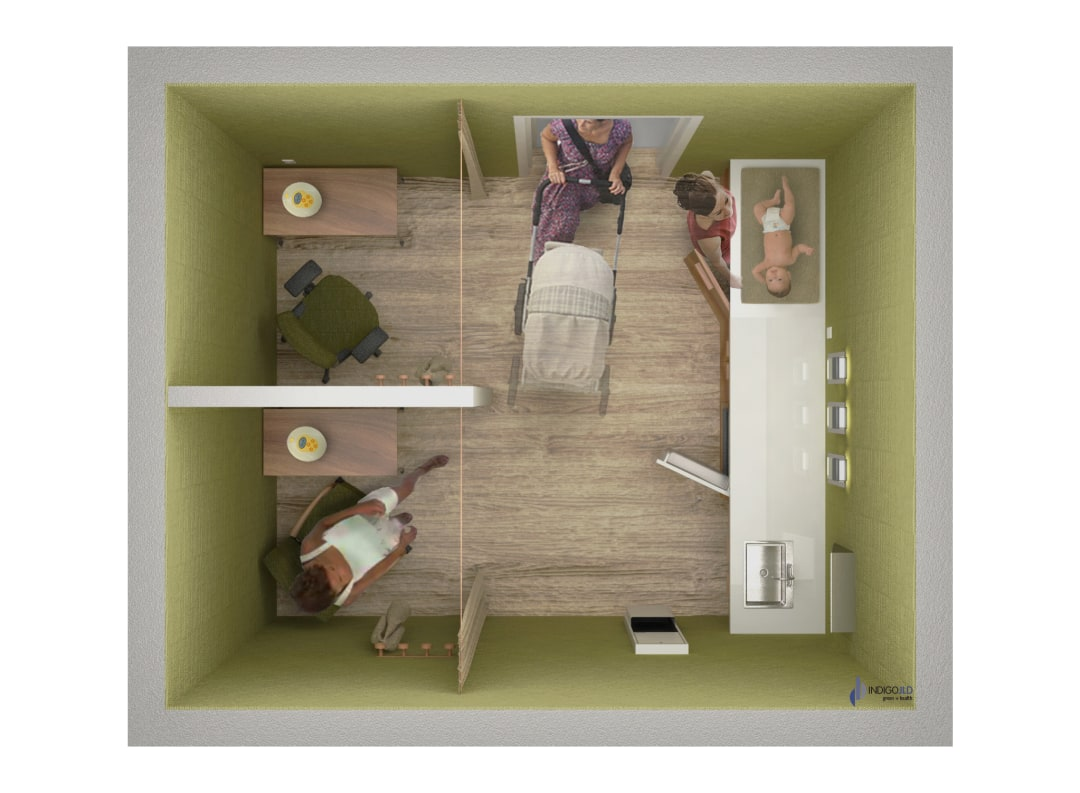 Lactation room rendering - IndigoJLD