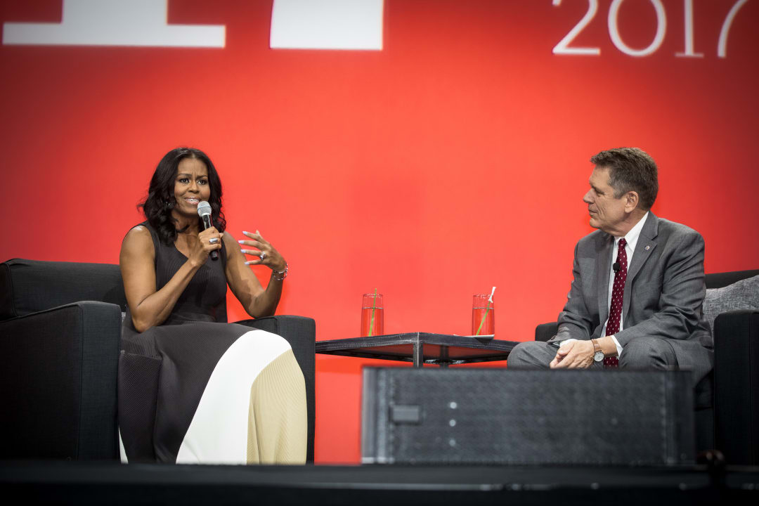 Michelle Obama and Thomas Vonier, FAIA