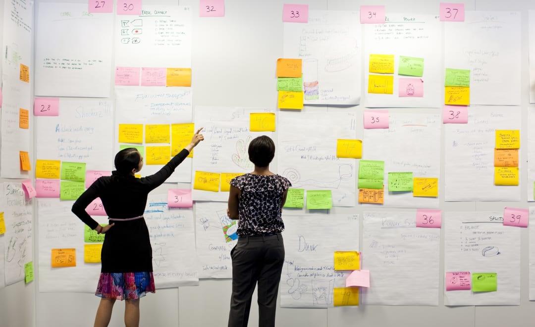 Are architects afraid of innovation? Big board with post-its