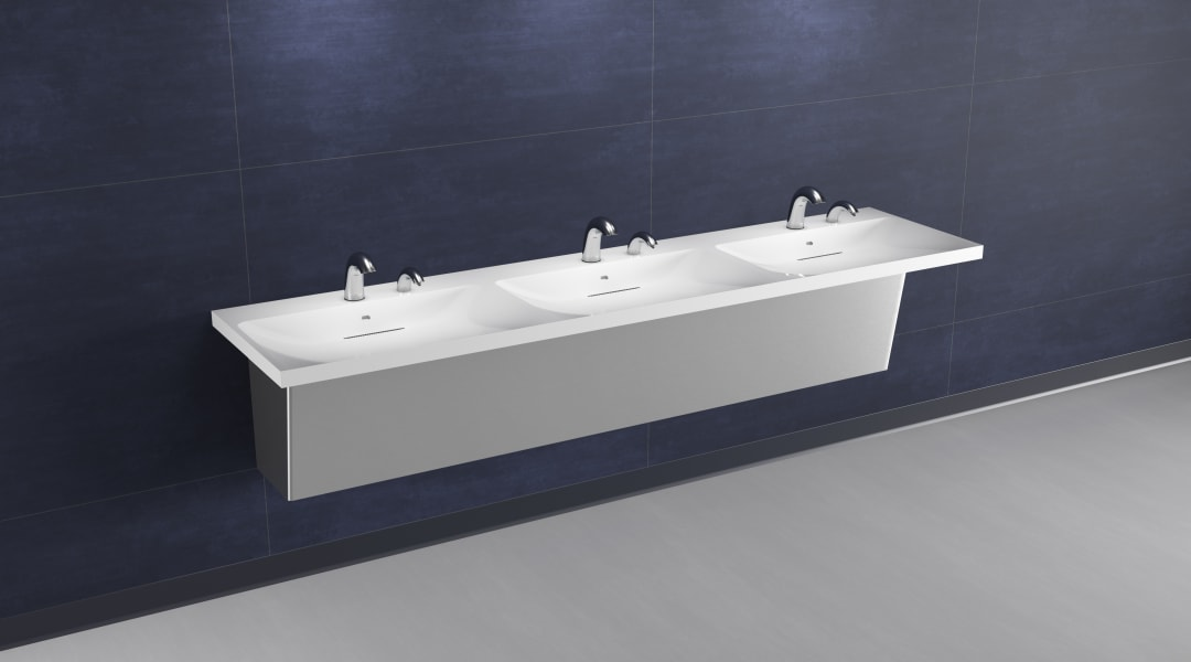 Clean commercial restroom design - Zurn Industries