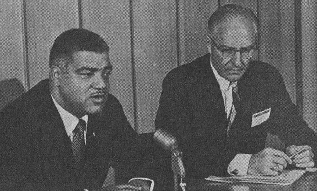 Whitney M. Young Jr. Press Conference at AIA Convention 1968