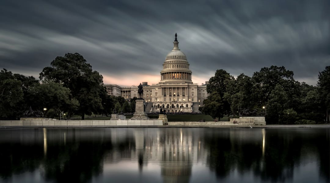 US Capitol at dusk - Tax reform and small firms