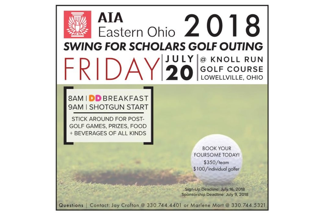 2018 Swing for Scholars Invitiation