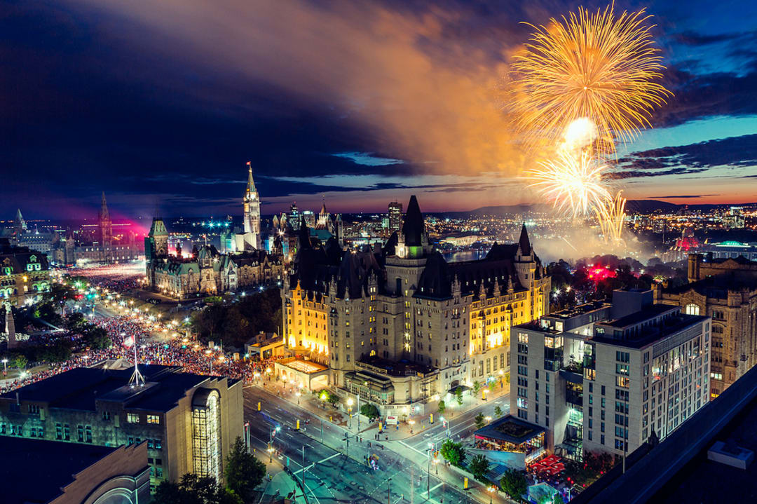 Ottawa Fireworks Canada Day 2012