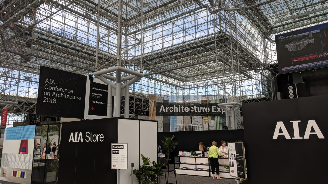 A'18 Conference on Architecture in the Jacob Javits Center