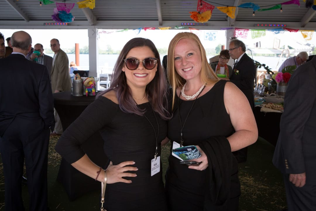 AIA Mid-Michigan Associate Director Paige Spagnuolo and Secretary Audrey Gilbert