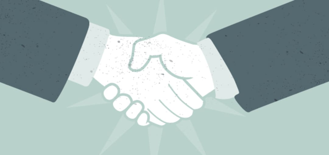 business professional's handshake
