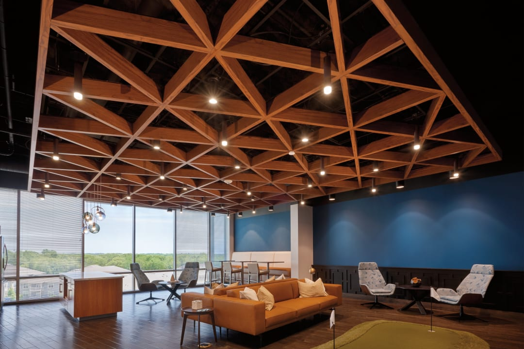 Armstrong Ceiling Solutions, IA Interior Architects, ceilings, office building