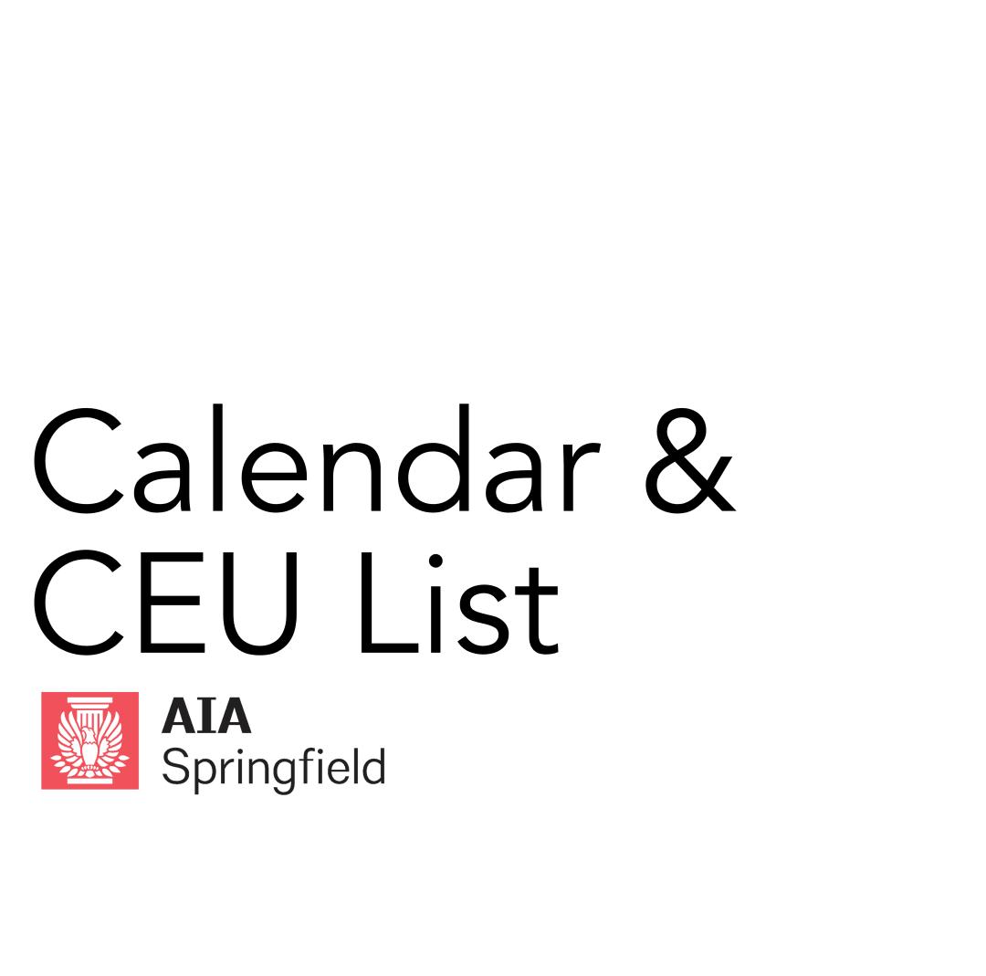 Calendar & CEU List