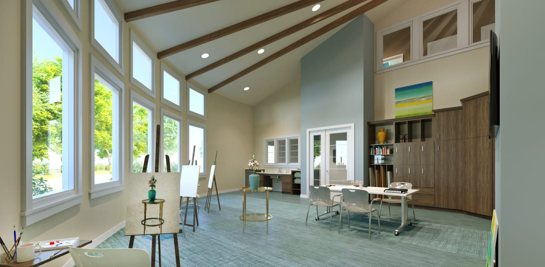 Art room at Meadow Active Lifestyle Community