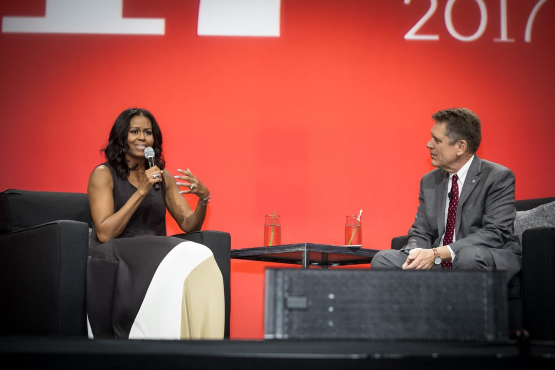 Michelle Obama and Thomas Vonier, FAIA