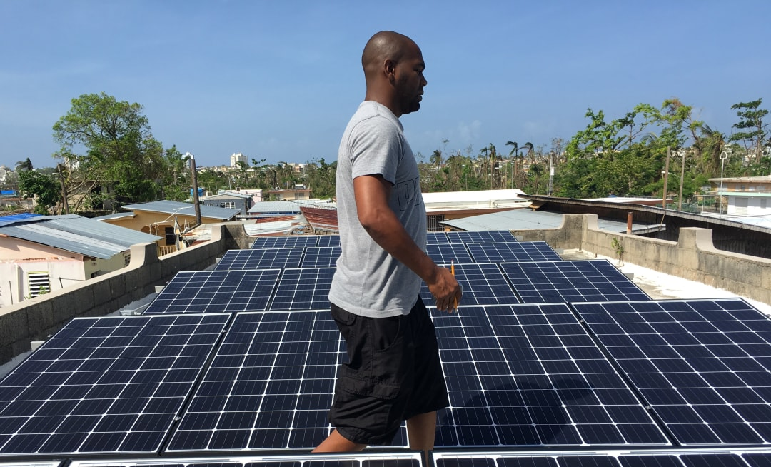 Puerto Rico solar power Tesla installation