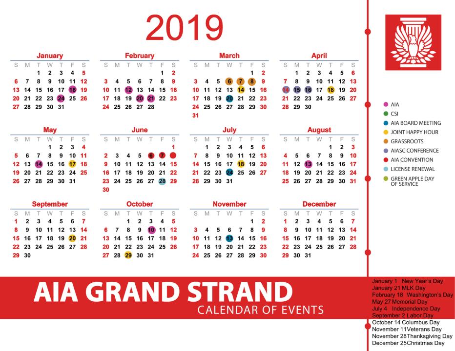 2019-AIAGS calendar