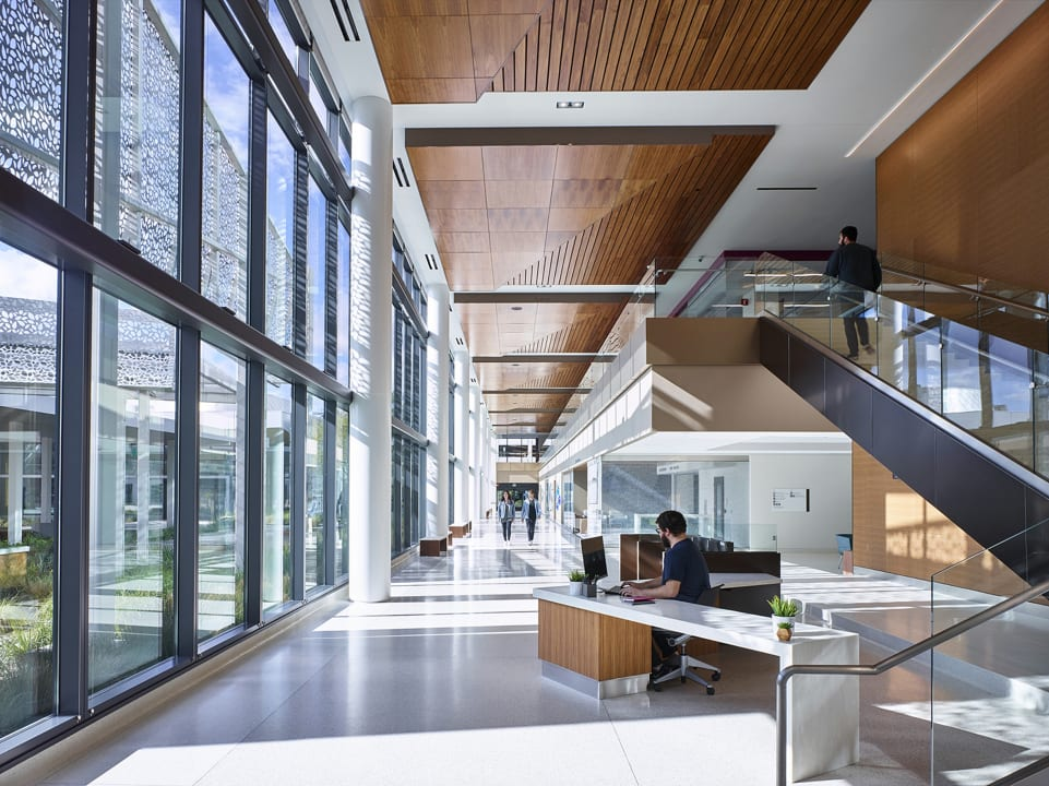 Outpatient Building Concourse,  Rancho Los Amigos National Rehabilitation  Center