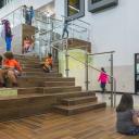 Annie Purl Elementary School - interior stairs