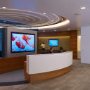 Cedars Sinai Advanced Health Sciences Pavilion desk