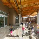 Kids playing in Preschool outdoor classroom