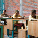 students at their desks