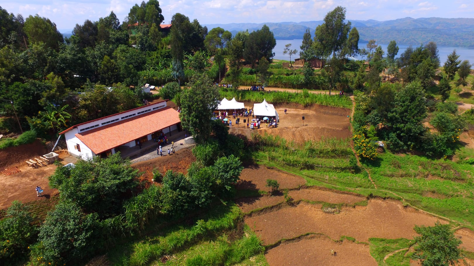 A birds' eye view of the Sunzu Pacu Community Center