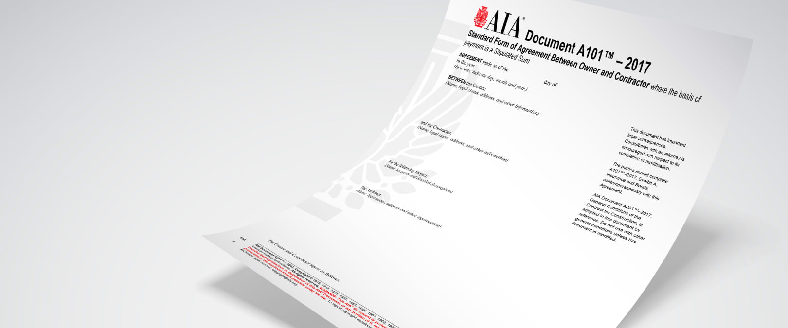 2017 Aia Contract Documents Aia Contract Documents