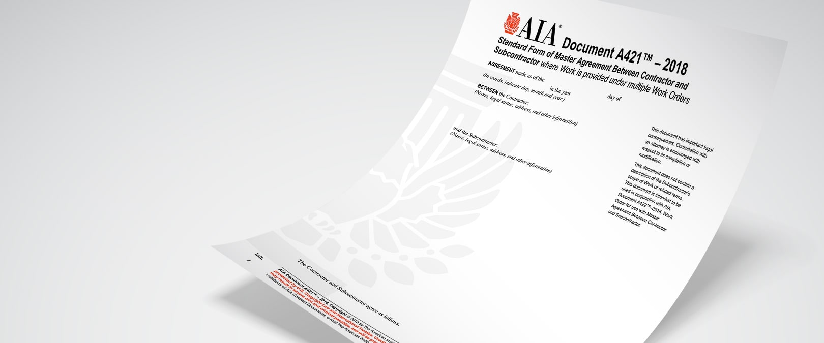 Fall 2018 Aia Contract Documents Release Aia Contract Documents