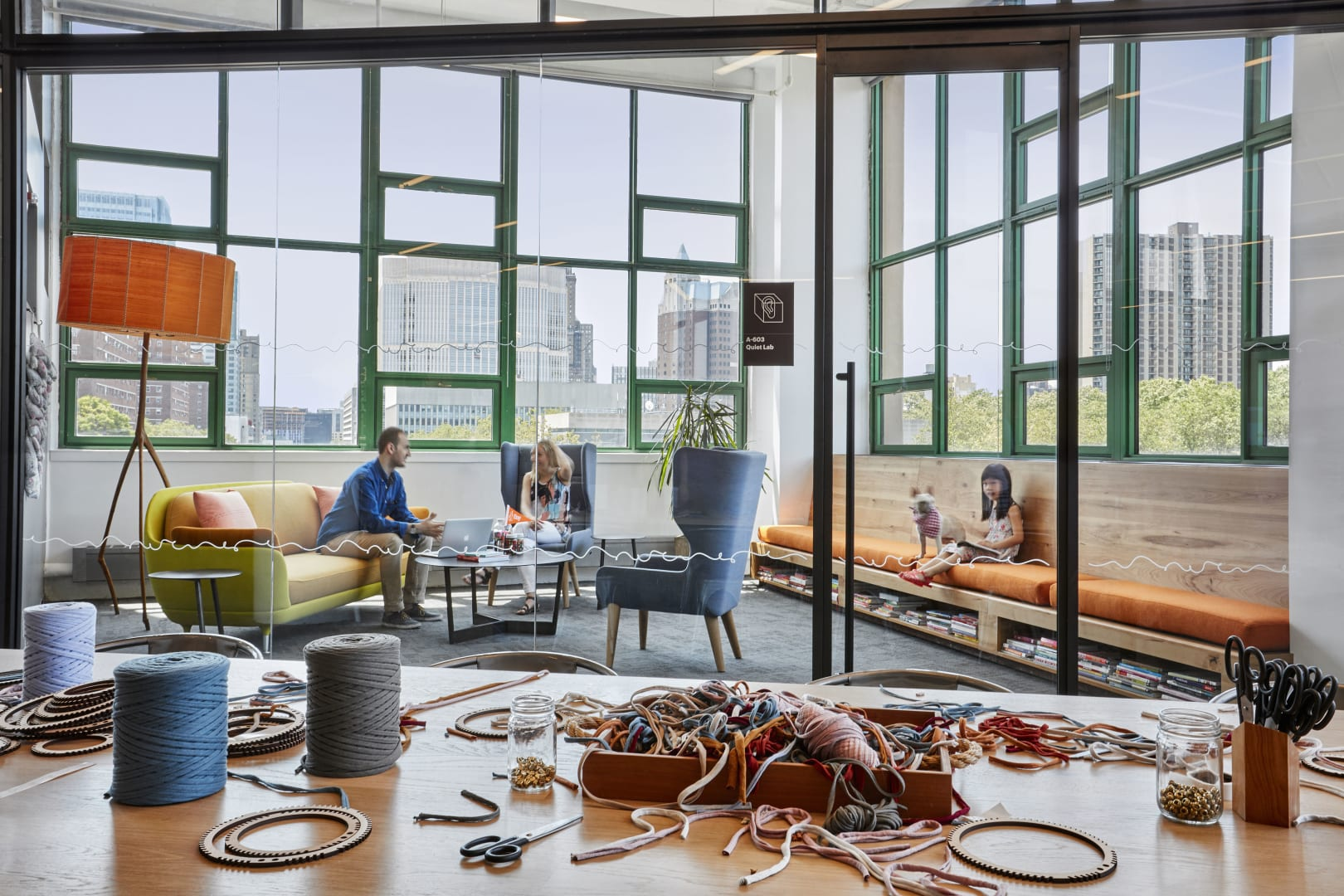 2020 COTE Top Ten award recipient, Etsy Headquarters, provides an area for employees and local artisans to create.