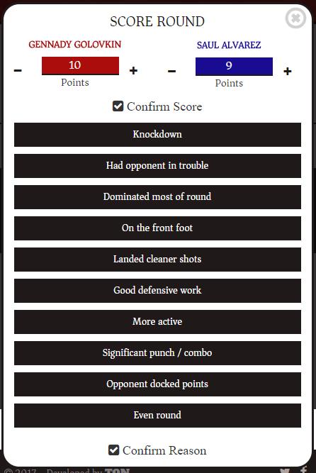 Fight Score Scorecard App