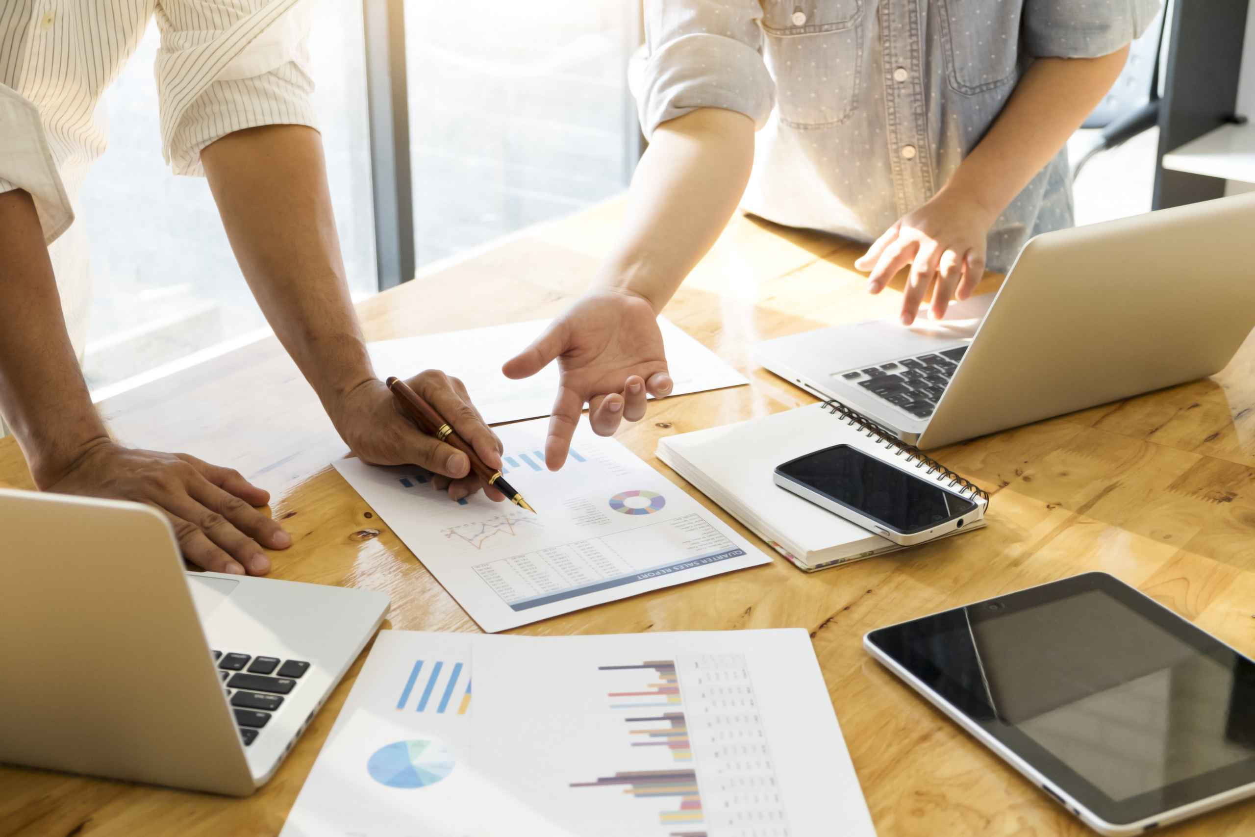 key performance metrics and data
