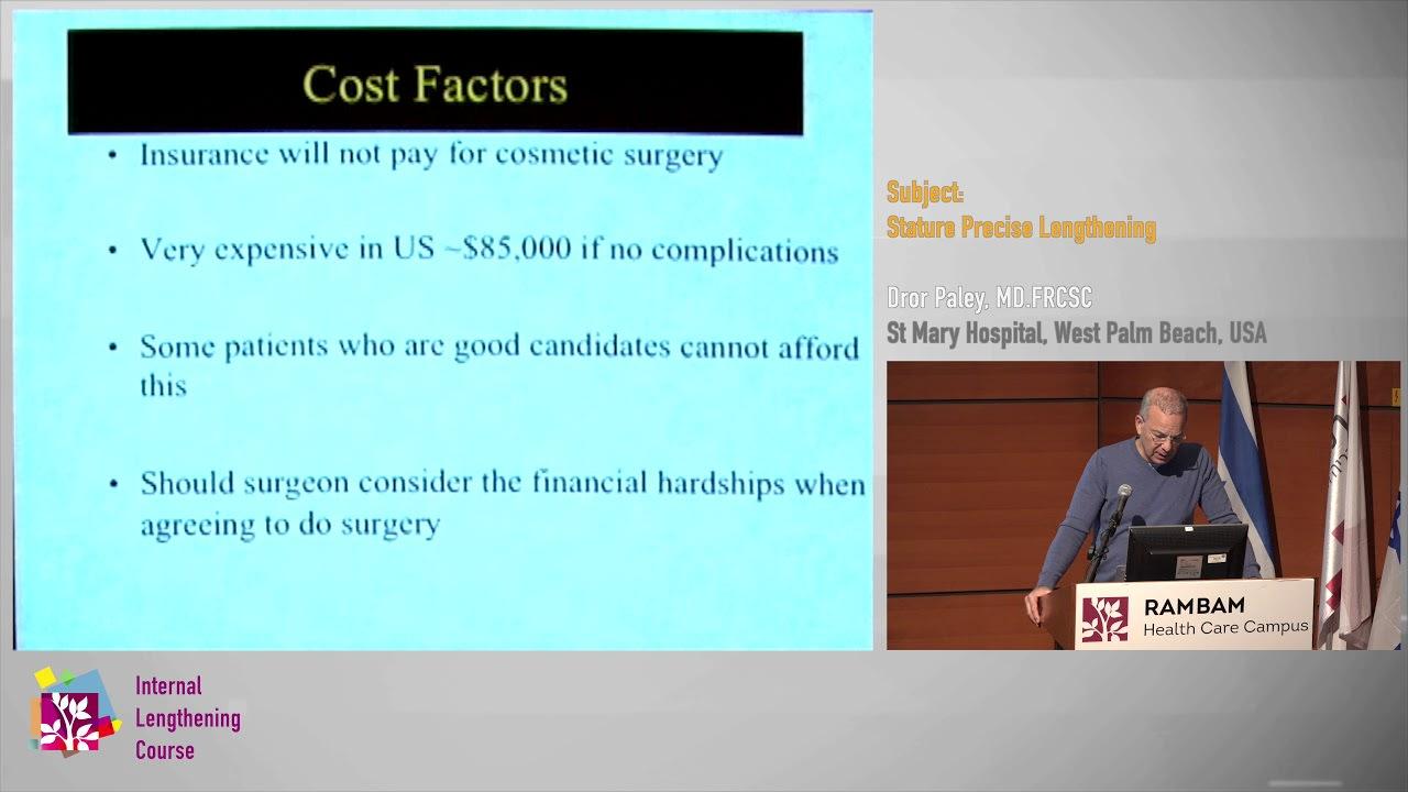 Dr. Dror Paley 2018 Stature Lengthening lecture.