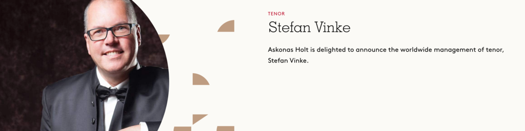 Stefan Vinke, Tenor