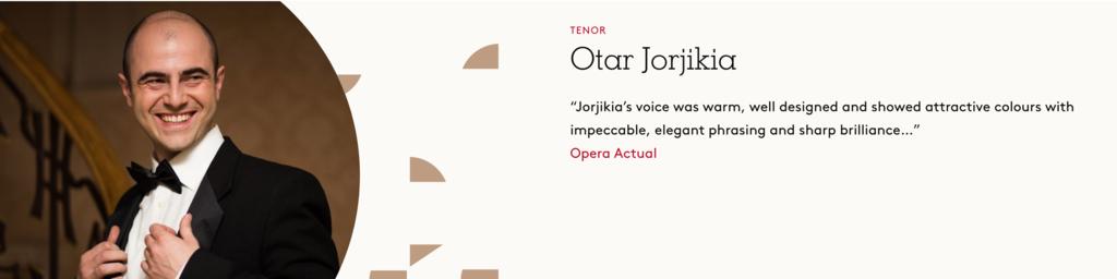 Otar Jorjikia, Tenore