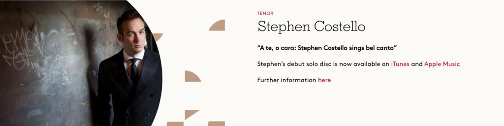 Stephen Costello, Tenore