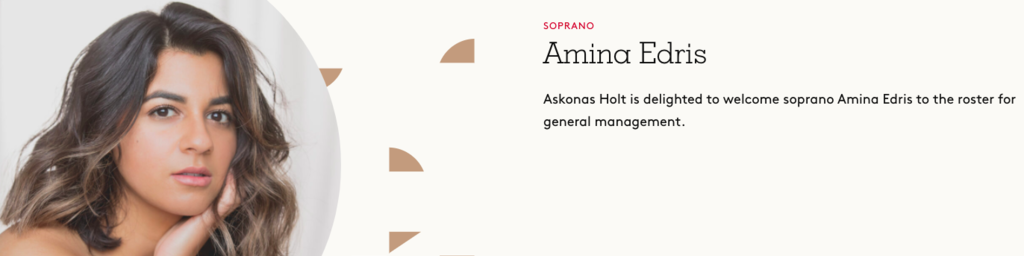 Amina Edris, Soprano