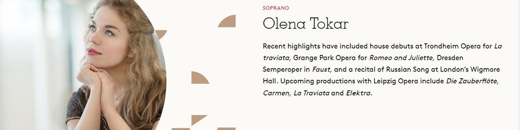 Olena Tokar, Soprano
