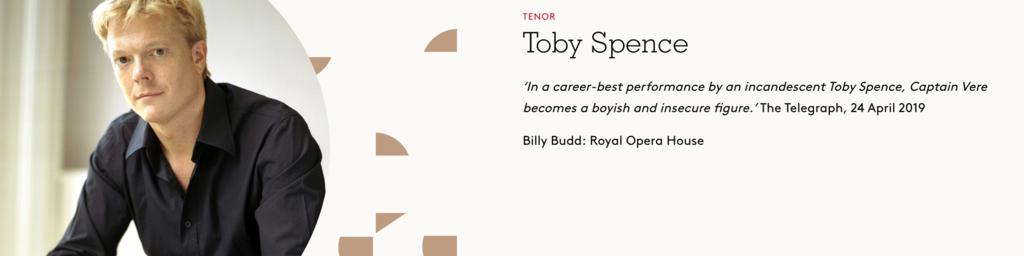 Toby Spence, Tenor