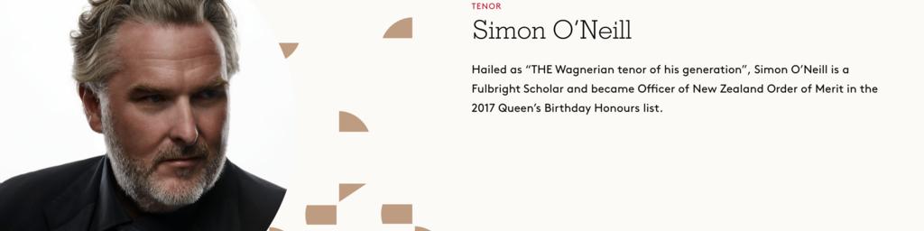 Simon O'Neill, Tenor