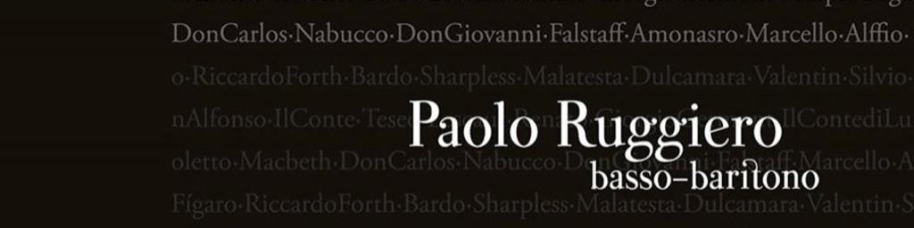 Paolo Ruggiero, Baritone