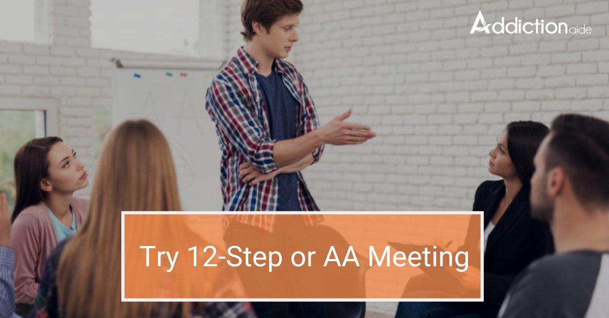 Resolve to a new try 12-Step or AA Meeting