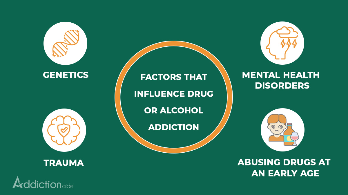 Factors that influence drug or alcohol addiction