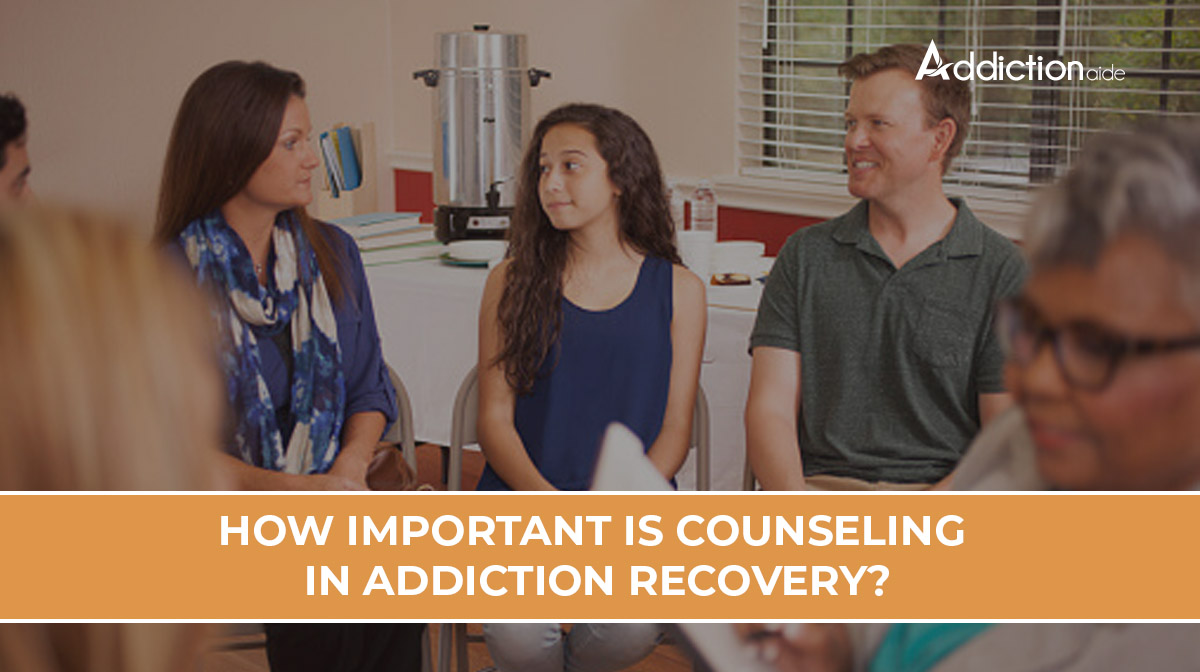 How important is counseling in addiction recovery?