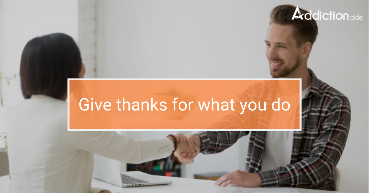 give thanks for what you do