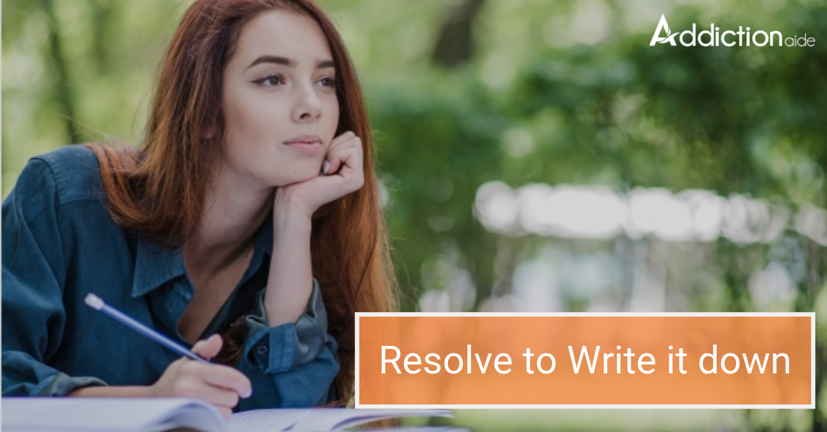 Resolve to Write it down