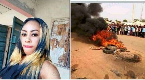 Jungle Justice: Alleged Female Robber Burnt To Death In Cross River