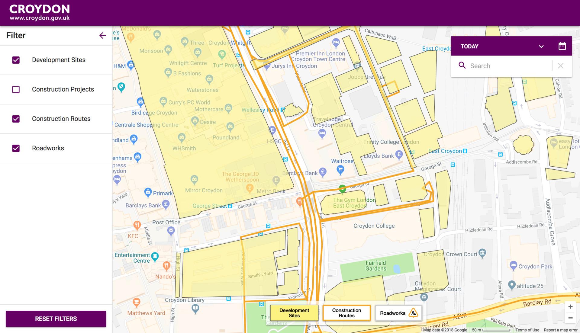 Croydon Development Map