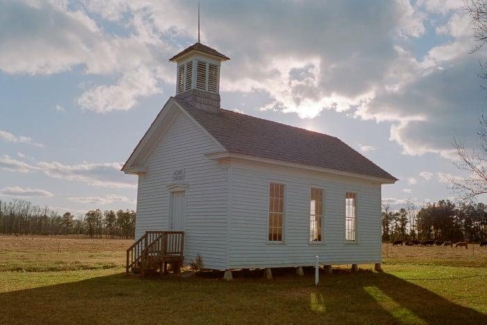 photo of 1800s school house