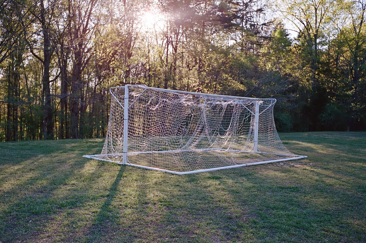 soccer goals tied together