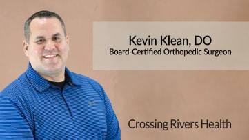 Dr. Kevin Klean, Board-Certified Orthopedic Surgeon at Crossing Rivers Health in Prairie du Chien