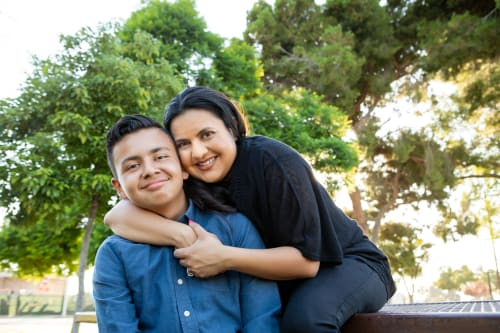 Adam with his mom Yadi