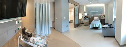 New Family Birth Center room
