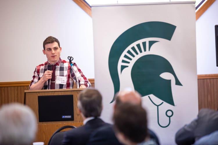 Dan Drake, MD as a medical student in 2015